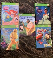 Leap Frog Tag Reader Lot of 5 Interactive Hardcover Books Disney Princess & More