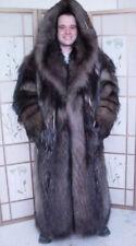 BRAND NEW NATURAL CANADIAN ARCTIC COYOTE FUR LONG COAT JACKET MEN MAN