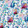 Disney Frozen Two Sisters One Heart 100% Cotton fabric by the yard