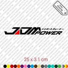 JDM power car bumper sticker decal vinyl stance jdm - Black and Red