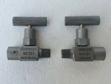 "Enerpac NV-251 Vanne Aiguille 1/4 "" M/F 10000 Psi/700 Barre - Lot De 2 NOS # New"