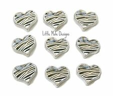 Zebra Print Heart Floating Charm For Living Memory Locket Necklace Pendant
