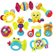 iPlay, iLearn 10pcs Baby Rattles Teether,newborn toys,baby toys,infant toys