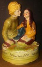 Vintage 1971 Chadwick Miller Love Story Ceramic Revolving Musical Figurine Japan