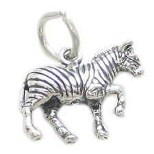 1 Zebras Safari charms Cf3913 Zebra sterling silver charm .925 x