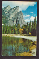 NATIONAL PARK Yosemite California Three Brothers postcard
