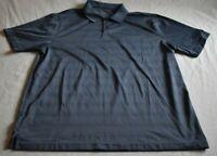 Van Heusen Men's Size XL Blue Stripes Short Sleeve Polo Polyester