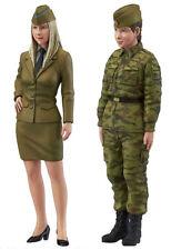 1:35 Scale Resin figures Model Kit Modern Russian tank female officer 2 girls RN
