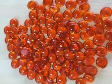 M Orange Glass Gems, Marbles, Nuggets, Pebbles (1Lb)