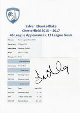 SYLVAN EBANKS-BLAKE CHESTERFIELD 2015-2017 ORIGINAL AUTOGRAPH CARD