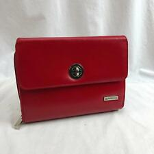 Franklin Covey Red Faux Leather Day Planer 6 Ring