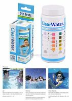 ClearWater Dip Test Strips Spa Swimming Pool Water Treatment Chlorine PH Test
