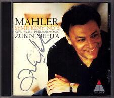 Zubin MEHTA Signed MAHLER Symphony No.5 New York Philharmonic TELDEC CD Sinfonie