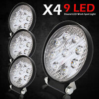 4X Car Truck 27W 12V 24V Round LED Work Spot Light Flood Driving Bright Bulb SUV
