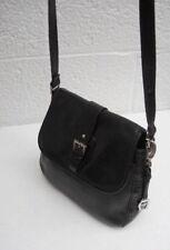Etienne Aigner Black Pebbled Soft Leather Four-Compartment Shoulder Bag