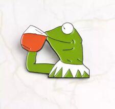 Kermit The Frog Tea Enamel Pin