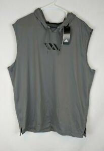 Adidas Pro Madness Sleeveless Hoodie, Grey, Men's XL