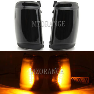 LED Smoked Door Wing Mirror Light Lamp Indicators For Ford Transit MK8 2013-2021