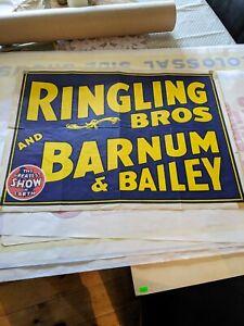 Original vintage circus poster