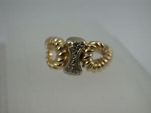 interessanter Ring mit Brillanten Gold 750