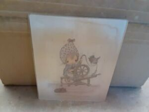 Holly Hobbie Glass Wall Plaque Picture There's No Place Like Home Betsey Clark