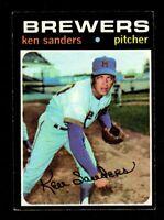 "1971 Topps #116 Ken Sanders Milwaukee Brewers Baseball Card ""mrp-collectibles EX"
