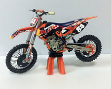 HINSON KTM450 1:12 Die-Cast Motocross Mx Toy Model Bike New Ray Redbull #84