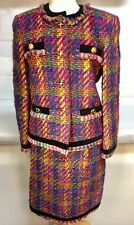 Vintage Escada Margaretha Ley Tweed Suit Jacket & Skirt Set