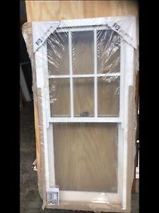 Sliding sash timber window brand new 835mm x 1745mm white painted