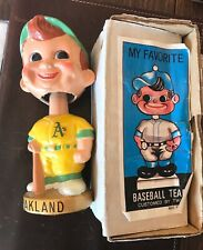 Oakland Athletics Vintage Nodder Bobblehead with Original Box Gold Base