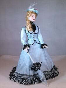 "ARTIST MINIATURE PORCELAIN  DOLLHOUSE  DOLL ""REBECCA"" 1:12 SCALE BY LINDA MIZE"