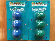 6x Golf Balls in Blue and Green Colour Coloured Golf Balls Made in Korea