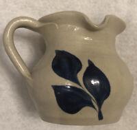 "Vintage Williamsburg Pottery Salt Glazed Creamer 3.25"" Tall x 3.5"" Diameter"
