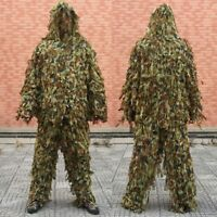 3D Camo Ghillie Suit Lightweight Camouflage Hunting Clothing Jacket&Pant Sets