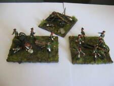 painted x  3 pieces diorama batterie russe borodino napoleonic war 1/72
