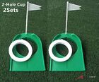 2sets A99 Golf 2-Hole Putting Cup Adjustable Flagpole Hole Indoor Training Aids