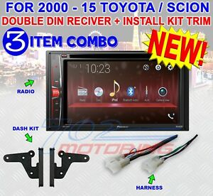 TOYOTA & SCION PIONEER DVD CD BLUETOOTH BT USB AUX CAR RADIO STEREO DOUBLE DIN