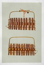 Marimba of South Africa  Musical Instrument Chromolithograph 1888