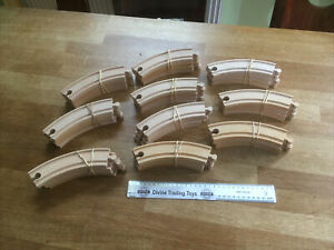 Large Job Lot of Brio Branded Long Curved Track   - Wooden Train Track