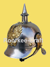 WWI GERMAN PICKELHAUBE STEEL & BRASS HELMET FR PRUSSIAN OFFICER'S SPIKE HELMET