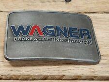 Vtg WAGNER BRAKE & LIGHTING PRODUCTS Advertising Belt Buckle