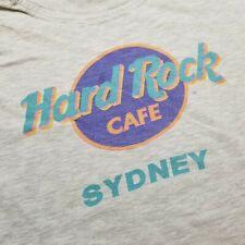 Vtg Hard Rock Cafe Sydney Mens T-Shirt sz L Gray Single Stitch Australia N26