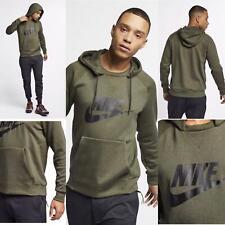 Nike Mens Hoodie Hoody Pullover Jumper Fleece Khaki S M L EXCLUSIVE RRP £89.99