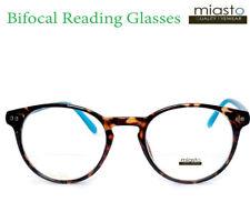 """NWT$39.99 MIASTO """"BIFOCAL"""" ROUND PREPPY KEYHOLE READER READING GLASSES +2.75"""