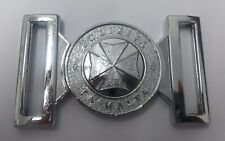 Genuine Malta Police Force Insignia Silver Belt Buckle Chrome Locket MFB26