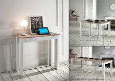 Tavolo Consolle allungabile struttura metallo Bianco Lucignolo Stones OM 165 B