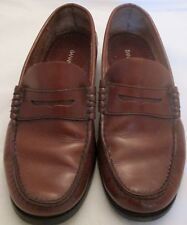 Banana Republic Penny Loafers Leather Shoes Brown Size 9 M Italy Gently Worn