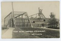 RPPC Sash Blind Factory ADDISON NY Steuben County New York Real Photo Postcard