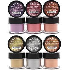 Mia Secret Metallic Acrylic Powder Collection Set of 6 Professional Nail Art