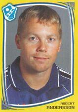 082 ROBERT ANDERSSON # SWEDEN HALMSTADS.BK STICKER FOTBOLL ALLSVENSKAN 2000
